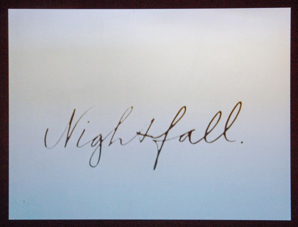 Bas Jan Ader - Nightfall - 4,16minuten 16mm film (op DVD), 1971
