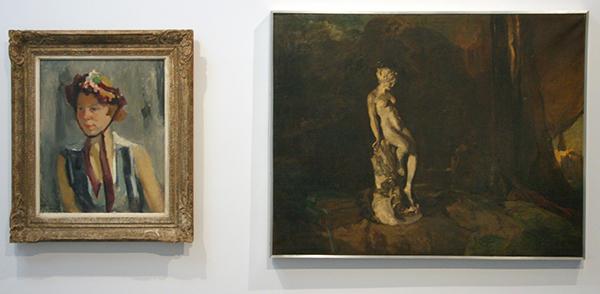 Betsy Westendorp-Osleck - Het Hoedje - Olieverf op canvas & Coba Ritsema - Stilleven met Beeldje - Olieverf op canvas
