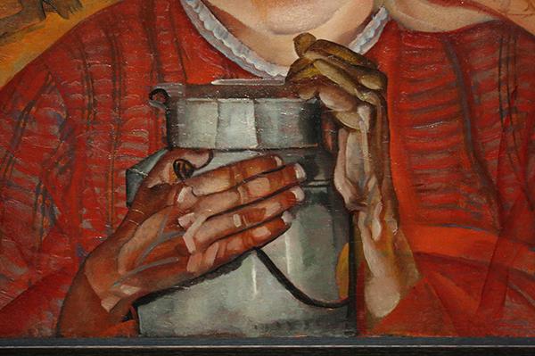 Boris Grigoriev - Meisje met melkkan - Olieverf op doek 1917 (detail)