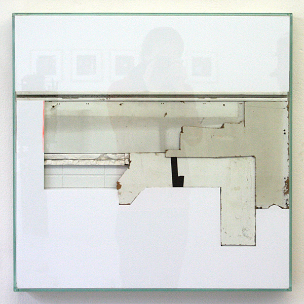Bram Braam - White Square 1 - 66x66x7cm Mixed Media