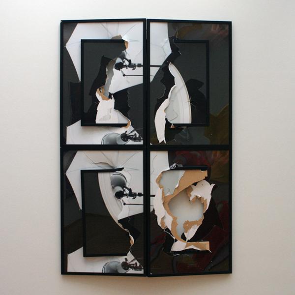Brendan Fowler - Spring 2011 - Fotokopien, karton in zwarte lijsten achter plexiglas