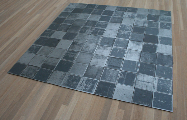 Carl Andre - Square Piece (for Martin and Mia Visser) - Staal