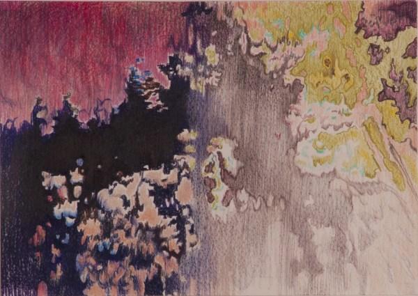 Cathelijn van Goor - Rare Digital Phenomena Color #2 - 30x42cm Kleurpotlood op papier, 2015