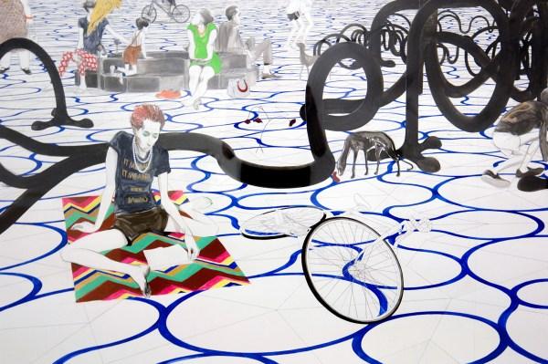 Charles Avery - Untitled (Design for Jadindagadendar) - Potlood, inkt, acrylverf en gouache op papier (detail)