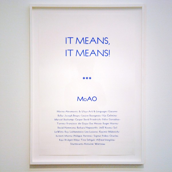 Charles Avery - Untitled (It means It means, Poster) - Potlood, inkt, acrylverf en gouache op papier