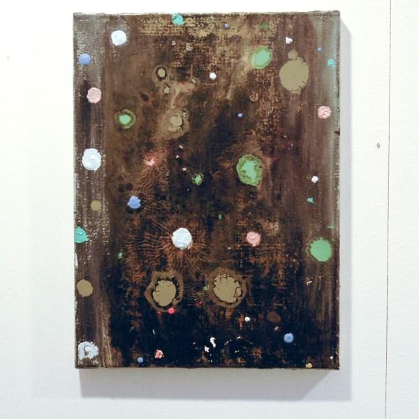 Charlotte van Renterghem - Geen titel - 30x40cm Acrylverf, olieverf en spuitbus op canvas