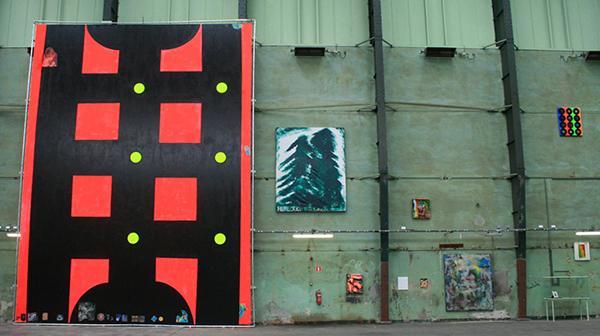 Chris Martin - After This You're On Your Own - Acrylverf, gelmedium, Aqua Ron-Glo en collage op vinyl & Hemlock - Gemengde techniek op doek & diverse kleinere werken