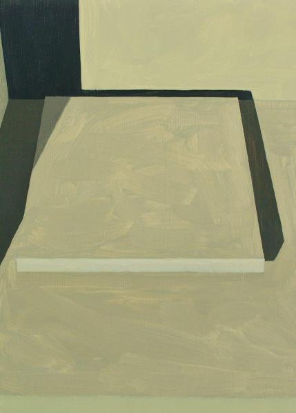 Christiaan Kuitwaard - White box painting -222 - 28x20cm Olieverf op paneel, 2015