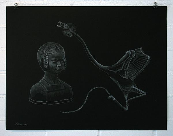 Christina Calbari - Tableau III - 65x50cm Potlood op papier