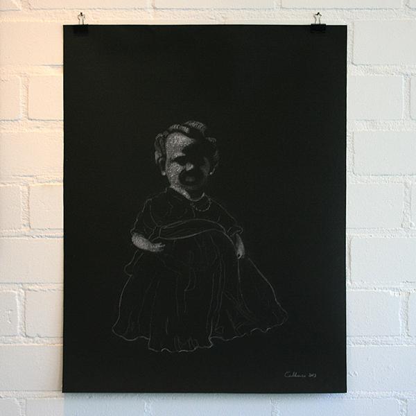 Christina Calbari - Tableau IX - 65x50cm Pastel en potlood op canvas