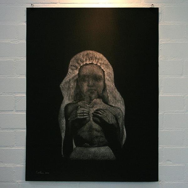 Christina Calbari - Tableau XI - 92x70cm Pastel en potlood op canvas