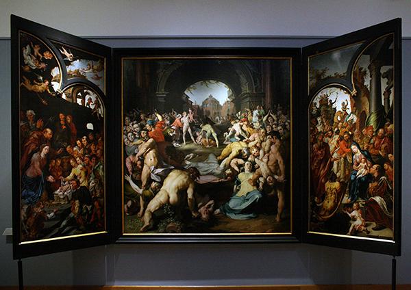 Cornelis van Haarlem - De Kindermoord van Bethlehem - Olieverf op canvas 1591