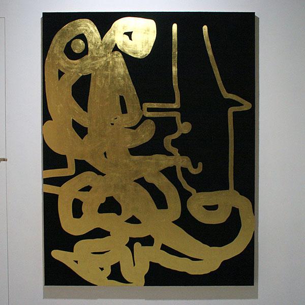 Dave McDermott - 198x152cm Wol en goud op paneel