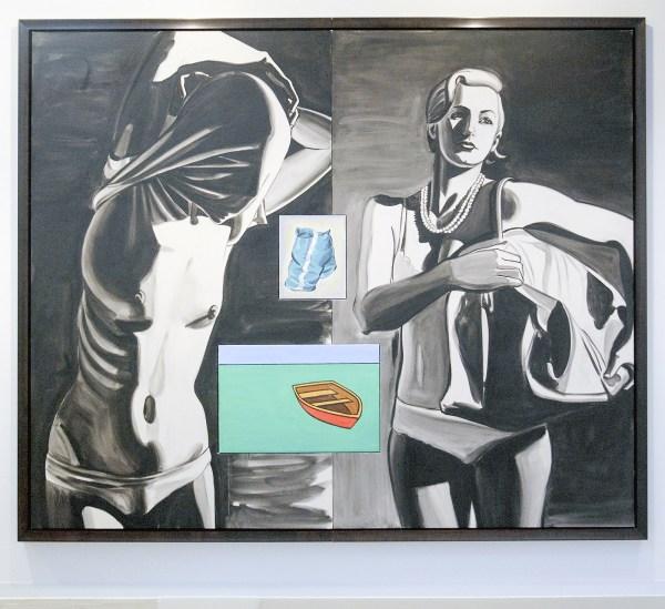 David Salle - Hitchhikers - 213x295cm Olieverf en acrylvef op linnen en op canvas