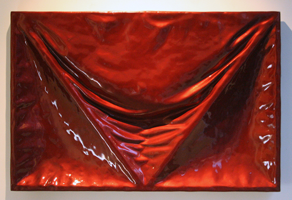 Derek van der Vinne - Untitled (Red) - 80x120x10cm Glasvezel, polyesther en autolak