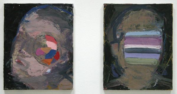 Diana Copperwhite - Clockwork & Blind Date - 30x25cm Olieverf op canvas