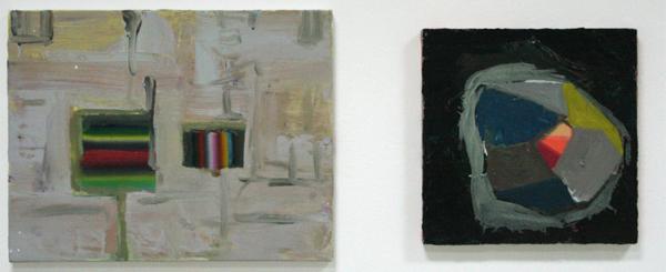 Diana Copperwhite - Silent Llight & Route Planner - 35x45cm & 30x30cm Olieverf op canvas