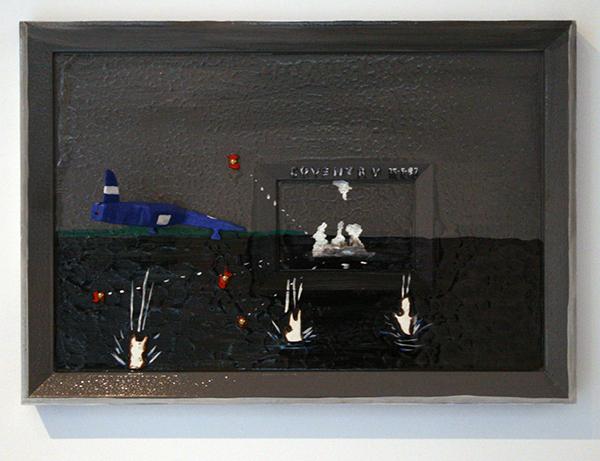 Dick Verdult - Coventry 25,05,82 - Relief, hout en verf, 55x80x20cm