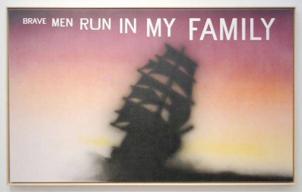 Ed Ruscha - Brave men of La Jolla - Acrylverf op doek, 1995