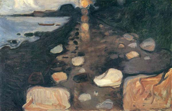Edvard Munch - Moonlight on the Shore - 63x96cm