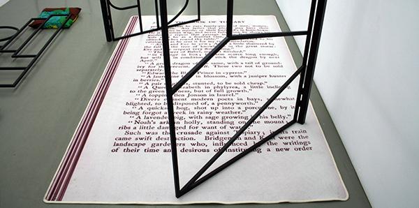 Edward Clydesdale Thomson - Causa Finalis 2 - 167x268x202cm tapijt en beschilderd staal (detail)