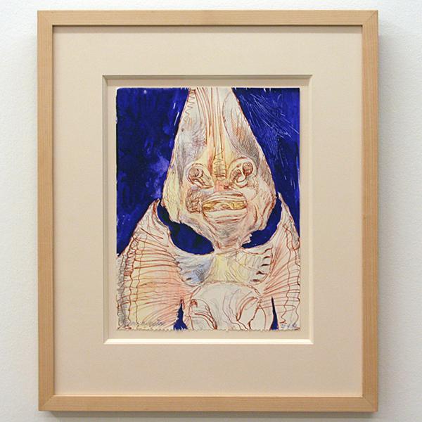Erik Andriesse - Gitaarvis - 32x24cm Aquarel, pen en viltstift op papier
