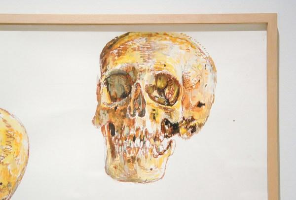 Erik Andriesse - Mensenschedels - Gouache en patel op papier, 1988 (detail)