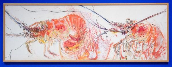 Erik Andriesse - Rivierkreeften - Gemengde techniek op papier, 1986