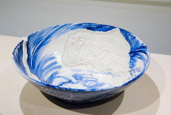 Erik Andriesse - Schaal - Geglazuurde witte chamotteklei, 1992