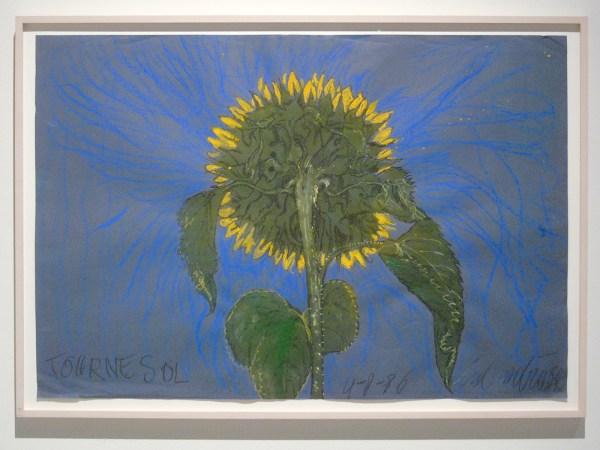 Erik Andriesse - Tournesol - Inkt, aquarelverf en pastelkrijgt op papier, 1986