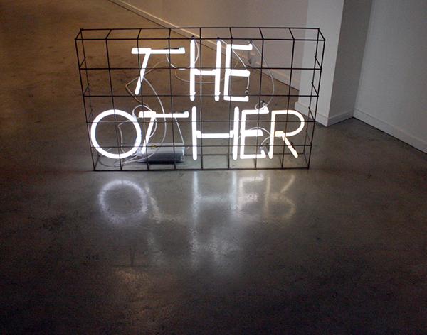 Erik Boker - The Other - 75x120x16cm Neon en metaal