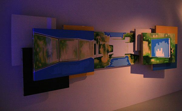 Esther Tielemans - Skylines - 125x437x54cm Acrylverf en epoxy op paneel 2007