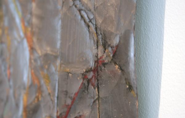 Fenneke Hordijk - Huid I - 150x333cm Pastel, houtskool, oliekrijt en grafiet op papier (detail)