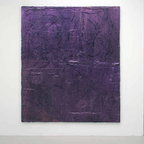 Florian Quistrebert, Michael Quistrebert - Overlight - 170x200cm Modelerings pasta, acylverf en iriserende coating op canvas