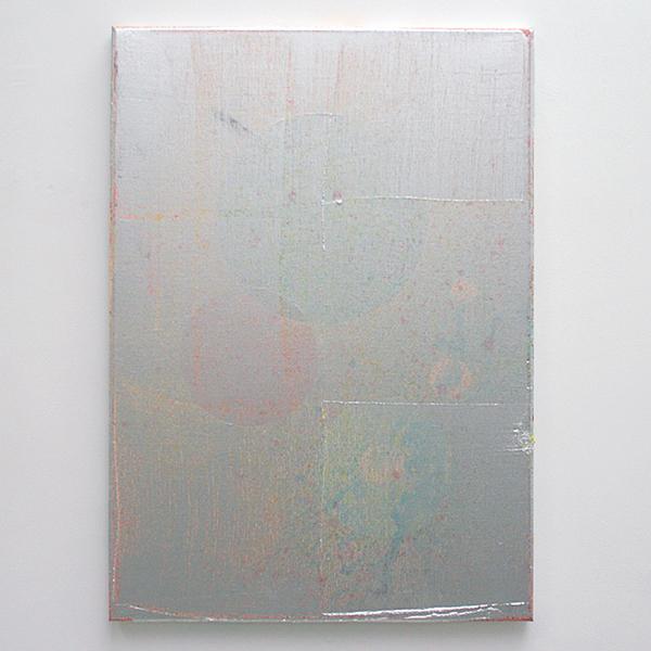 Florian Quistrebert, Michael Quistrebert - Untitled - 70x50cm Aluminium pigmenten en verschillende soorten verf op canvas