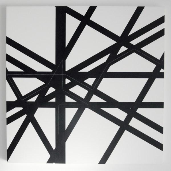 Francois Morellet - Pi Puissant n, 3, 1 = 30, 13 decmiales - Acrylverf op doek op hout, 1998