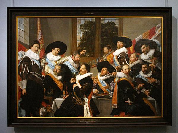 Frans Hals - Feestbal van Officieren van de Cluveniersschutterij - Olieverf op doek 1627
