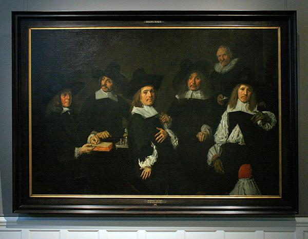 Frans Hals - Regenten van het Oudemannenhuis - Olieverf op canvas 1664