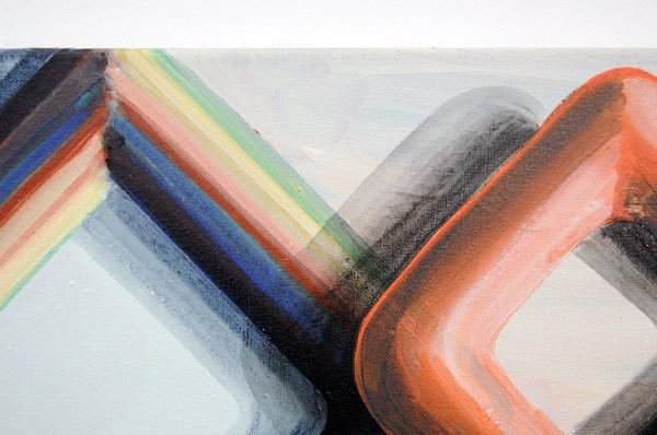 Gabrielle van de Laak - 3D Rhythm - 60x50cm Acrylverf en pigment op katoen (detail)
