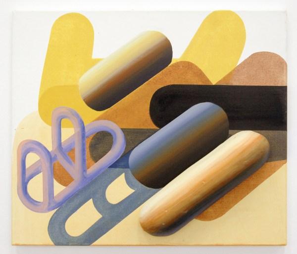 Gabrielle van de Laak - First Crop - 60x70cm Acrylverf, pigment en polystyreeb op katoen