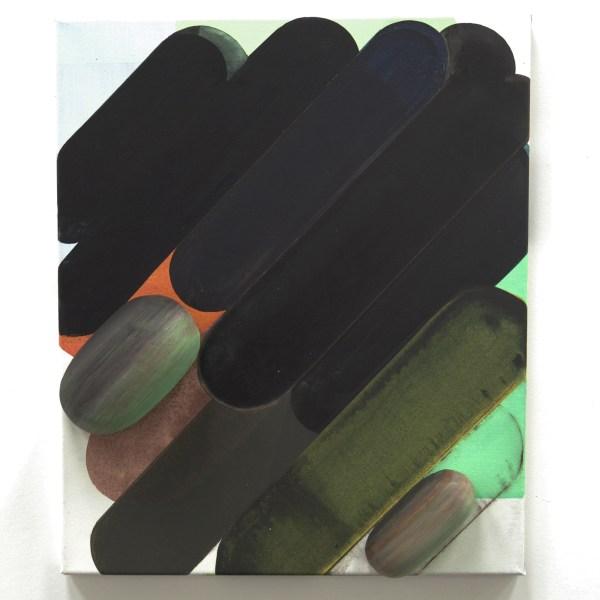 Gabrielle van de Laak - Veg Box - 60x50cm Acrylverf, pigment en polystyreen op katoen