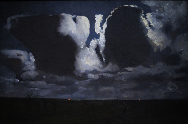 George Hendrik Breitner - Maannacht - 71x101cm