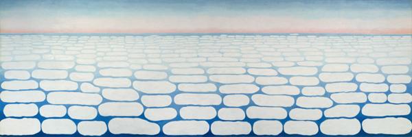 Georgia O'Keeffe - Sky Above Clouds III - 244x732cm