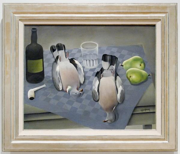 Ger Langeweg - Stilleven met duiven - Olieverf op doek, 1931