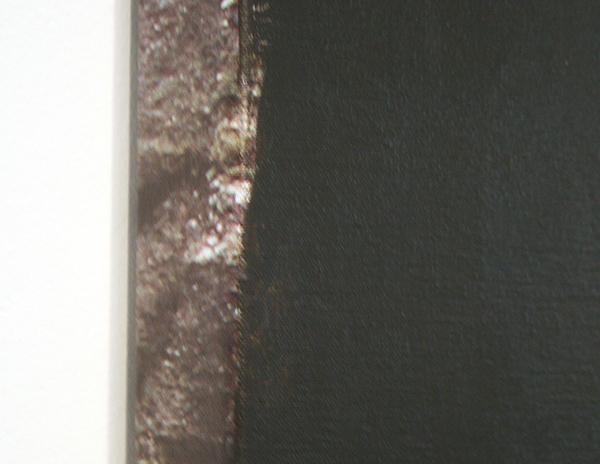 Ger van Elk - Conclusion I - Black Landscape - 96x102x5cm Acrylverf op foto op canvas (detail)
