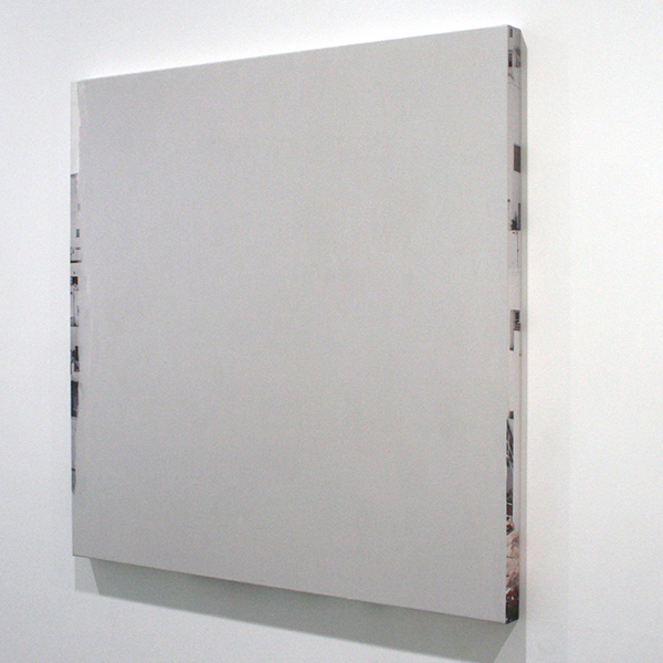 Ger van Elk - Conclusions II - Vejer de la Frontera 'Grey' - 123x126x6cm Acrylverf op foto op canvas