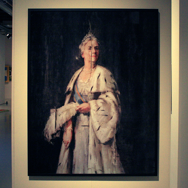 Gert Jan - Kocken - Queen Wilhelmine, Jakarta, Defacement May 6 1960 - 151x117cm Fotografie 2005