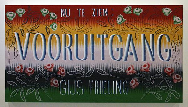 Gijs Frieling - De Vooruitgang - Aankondiging, op paneel (?)