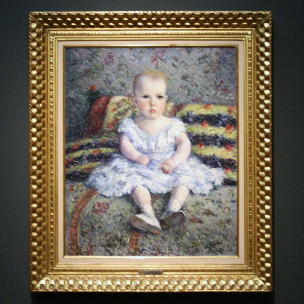 Gustave Caillebotte - Portrait de Maurice Hugot, Enfant - Olieverf op doek 1885