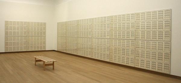Hanne Darboven - 24 Gesange B Form - Oost-Indische inkt op papier